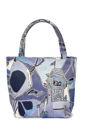 Cotton handbag Piazzetta of Capri Eco Capri | 31 | MINI BAGPAZZETTA BLU