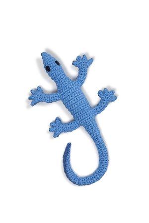 Handmade cotton keychain Lizard Eco Capri | 65 | P.CHIAVI LUCERTOLAAZZURRO