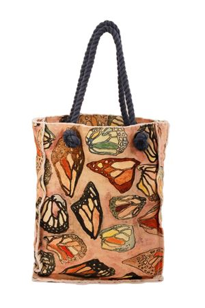 Cotton shopper bag Butterfly Eco Capri | 31 | SHOPPER ECOFARFALLE