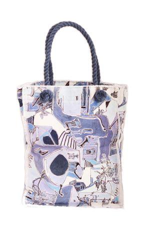 Cotton shopper bag Piazzetta of Capri Eco Capri | 31 | SHOPPER ECOPIAZZETTA AZZURRA