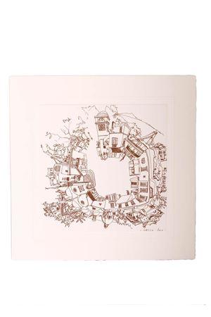 Piazzetta di Capri print on cardboard Eco Capri | 20000025 | STAMPA 1 GRPIAZZA 360 GR