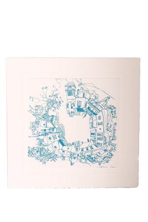 Print on cardboard of Piazzetta di Capri Eco Capri | 20000025 | STAMPA 1PIAZZA 360 GR