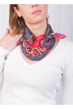 Fuxia scarf with cashmere fantasy and hook closure Grakko Fashion | -709280361 | GRCASHFFUXIA