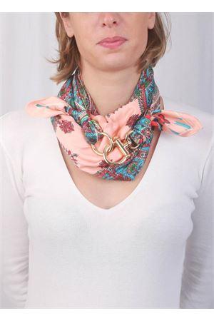 Pink Capri scarf with hooks Grakko Fashion | -709280361 | GRCASHRROSA