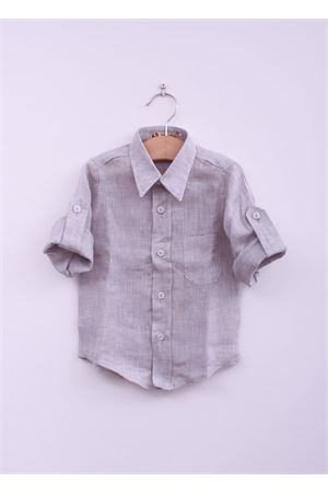 Grey linen shirt for baby boy La Bottega delle Idee | 6 | CAM RIGA GREYGRIGIO