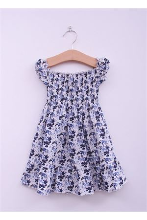 Flowers pattern dress for new born La Bottega delle Idee | 5032262 | FLOREALE1BLU
