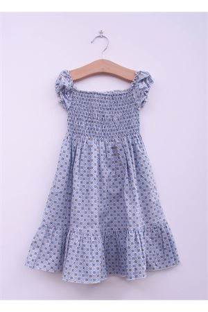 Dress with majolica print for baby girl La Bottega delle Idee | 5032262 | MAIOLICAAZZURRO