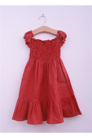 New born dress with red polka dot La Bottega delle Idee | 5032262 | POIS MESIROSSO
