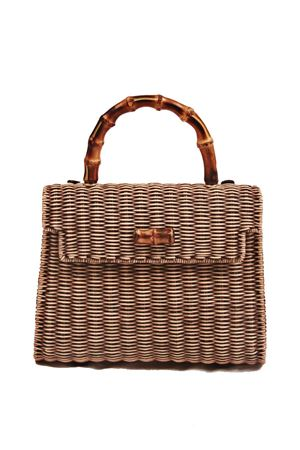 Bamboo handle bag Laboratorio Capri | 31 | 115TORTORA
