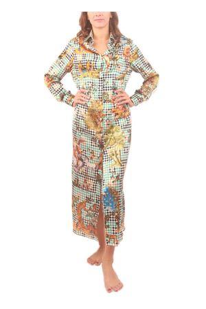Vestito chemisier lungo in seta verde Laboratorio Capri | 5032262 | BRIGITTES. MICHELE VERDE
