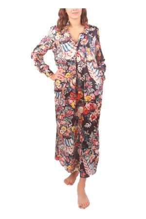 Pure silk caftan with flower pattern Laboratorio Capri | 5032262 | CAFTANO 1BLU SANDERSON