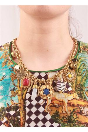 Brass necklace with multicolor charms Laboratorio Capri | 35 | JACKIELAPISLAZZULI