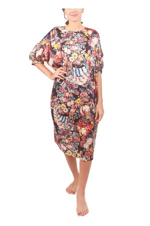 Pure silk dress with floral pattern Laboratorio Capri | 5032262 | NAIFABLU