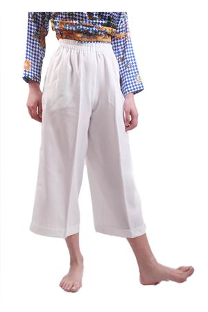 White linen pants with wide leg  Laboratorio Capri | 9 | NEW RODBIANCO
