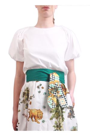 White cotton t-shirt with puff sleeve Laboratorio Capri | 8 | NICEBIANCO