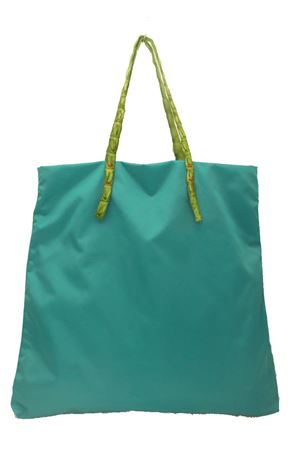 Green shopper bag with crocodile handles Laboratorio Capri | 31 | SANTAMARIATURCHESE/VERDE