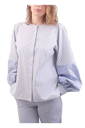 Puffed sleeve cotton shirt with white and blue stripes Laboratorio Capri | 6 | STEFYFONDO3