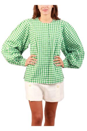 Tailored shirt with puffed sleeves Laboratorio Capri | 6 | STEFYGINGHAM VERDE