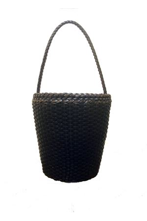 Woven leather bag Laboratorio Capri | 31 | ZANDRIA ART 080NAVY