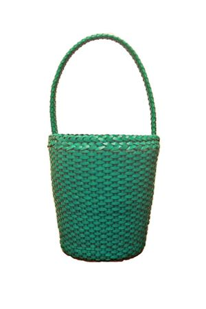 Woven leather bag Laboratorio Capri | 31 | ZANDRIA ART 080TURCHESE