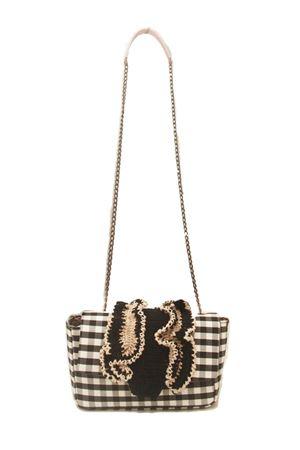 Borsa con catena in tessuto e crochet M. La Rosa per Laboratorio Capri | 31 | BABY CROCHEBLACK