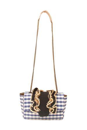 Borsa fatta a mano  in tessuto e crochet M. La Rosa per Laboratorio Capri | 31 | BABY CROCHEBLUE