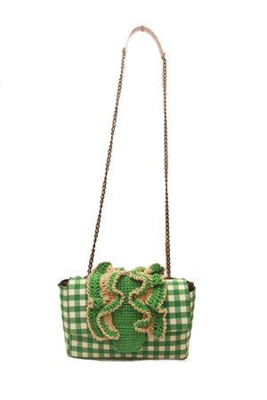Green bag with crochet decoration M. La Rosa per Laboratorio Capri | 31 | BABY CROCHEGREEN