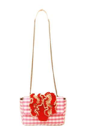 Pink and red shoulder bag with chain M. La Rosa per Laboratorio Capri | 31 | BABY CROCHEPINK