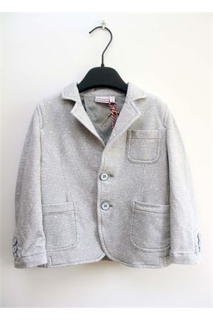 Cotton grey jacket for baby boy Officina | 3 | BC 198BIANCO/GRIGIO MELANGE