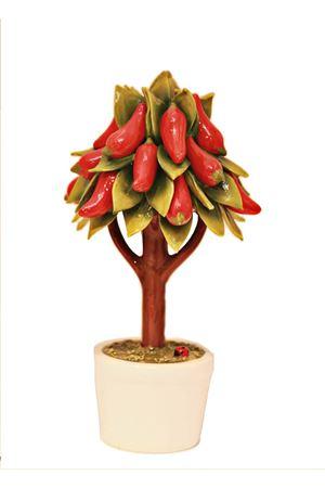 Big chili peppers ceramic tree Sea Gull Capri | 20000025 | ALBERO PEPERONCINIGRANDE