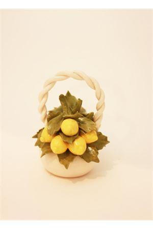 Small lemons basket in ceramic  Sea Gull Capri | 20000025 | CESTINO TONDO LIMONILIMONI