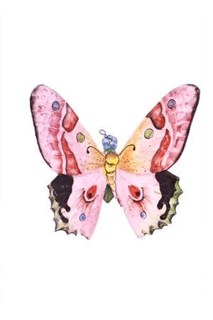 Decorative ceramic tile butterfly pink Sea Gull Capri | 20000004 | FARFALLA MEDIAROSA