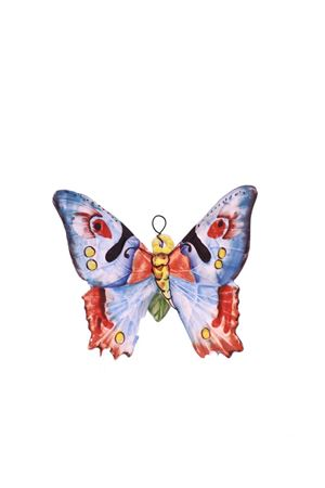 Mattonella decorativa in ceramica farfalla  blu Sea Gull Capri | 20000004 | FARFALLA PICCOLABLU