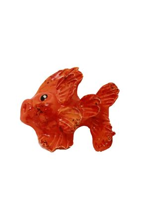 Fish shaped oragne ceramic tile to hang Sea Gull Capri | 20000004 | PESCE ARANCIOARANCIONE