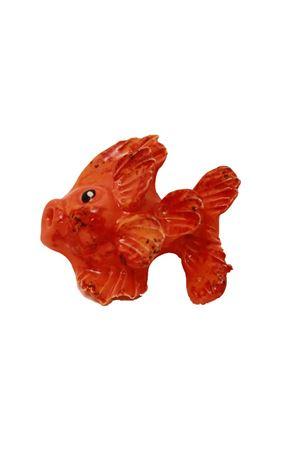 Mattonellain ceramica a forma di pesce Sea Gull Capri | 20000004 | PESCE ARANCIOARANCIONE