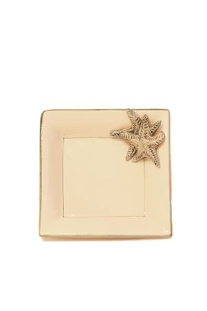 Ceramic ashtray with sea stars decoration  Sea Gull Capri | 20000026 | POSACENERE STELLA PCTURCHESE