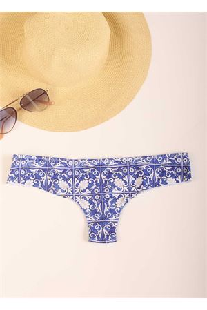Brazilian swimwear with majolica Aram Capri | 85 | ACBR029AZZURRO