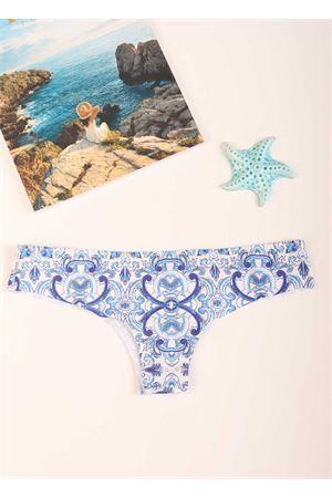 Slip with blue majolica pattern Aram Capri | 85 | ACBRO059AZZURRO