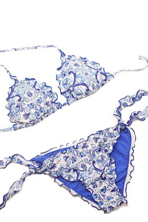 Bikini with majolica pattern  Aram Capri | 85 | ACTR059AZZURRO