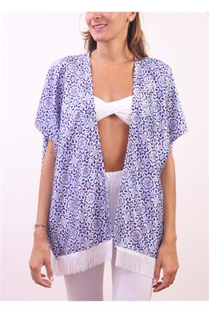 Cover- up with fringes Aram Capri | 5032233 | CP10207BLU
