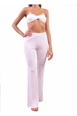Pantaloni da donna in jersey bianco Aram Capri | 9 | CPP1BIANCO