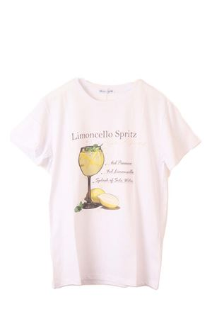 T-shirt in cotone con cocktail Limoncello Aram Capri | 8 | LIMONCELLO TSHIRTBIANCO