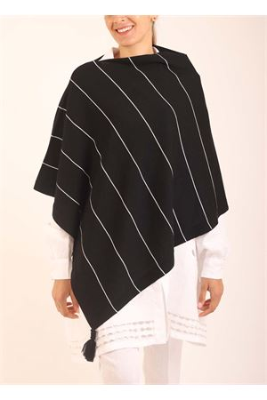 Black and white wool cape  Art Tricot | 52 | PONCHORIGATOBIANCONERO