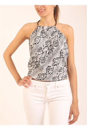 Black and grey top with open back  Art Tricot | 40 | TOPNODO1NEROPITONE