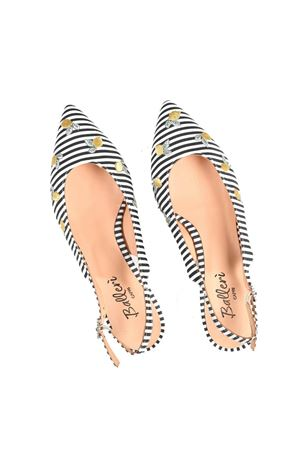 Pointed striped ballerina flats open at the back Ballerì Capri | 5032261 | ANITANERO