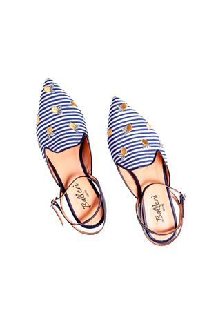 Pointed flats with lemons and Swarovski on the closure Ballerì Capri | 5032261 | AUDRYBLU