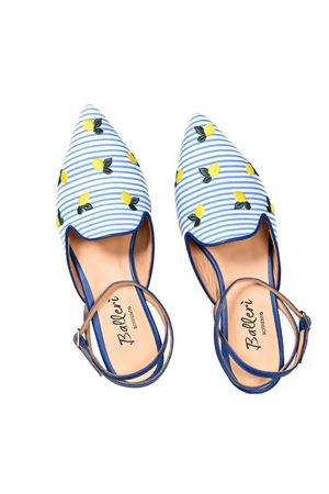 Pointed ballerina with lemon embroidery Ballerì Capri | 5032261 | SORRENTO1AZZURRO