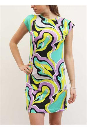 Green patterned stretch jersey short dress Capri Chic | 5032262 | JERSEYDRESSVERDE