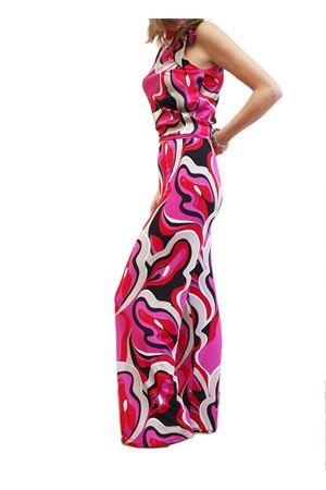 Fuchsia patterned jersey trousers Capri Chic | 9 | PANTAFANTAFUCSIA