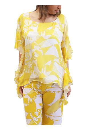 Maglia gialla in seta con volant Capri Chic | 8 | SILKTSHIRTGIALLO